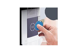 Door lock release with key card
