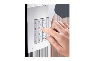 Door lock release with keypad