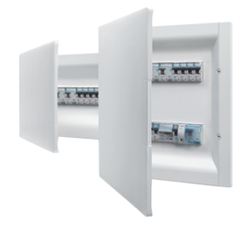 A complete range of switchboards with modularity from 2 to 72 modules and IP40 or IP65 protection index, for residential and service applications.