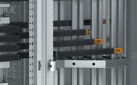 Aluminium vertical busbars