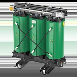 High efficiency cast resin transformers.