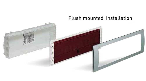 Flush-mounted–installation