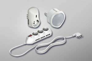 Adapters, electrical extensions, USB multi-sockets