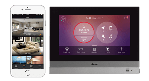 Solutions for local and remote control of the home automation functions.