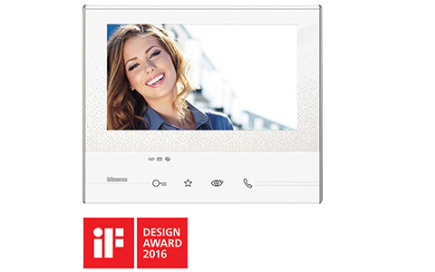 The BTicino Classe 300 Video internal unit  awarded at the IF DESIGN AWARD 2016