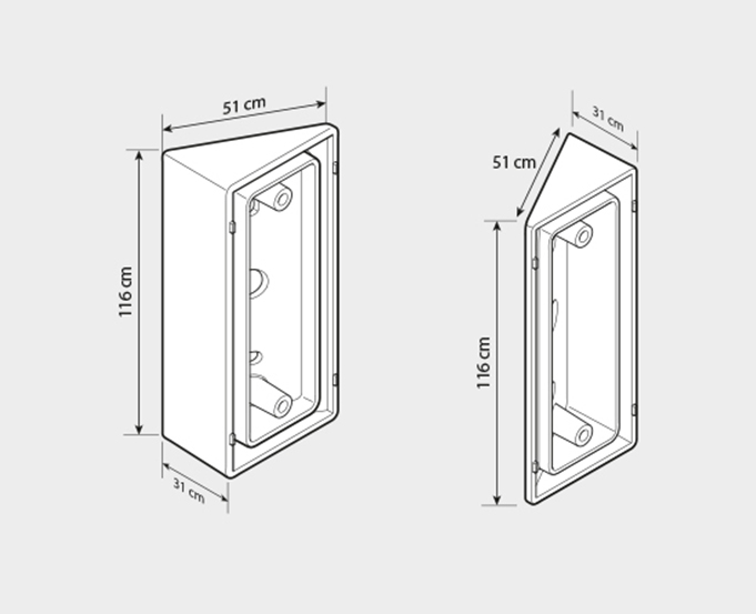 Entrance panels angle bracket accessory