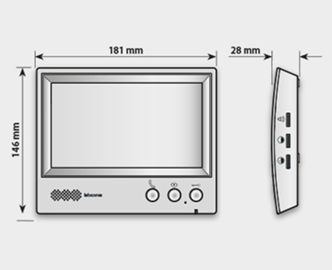 """7"""" and 4.3"""" Video hand-free internal units"""