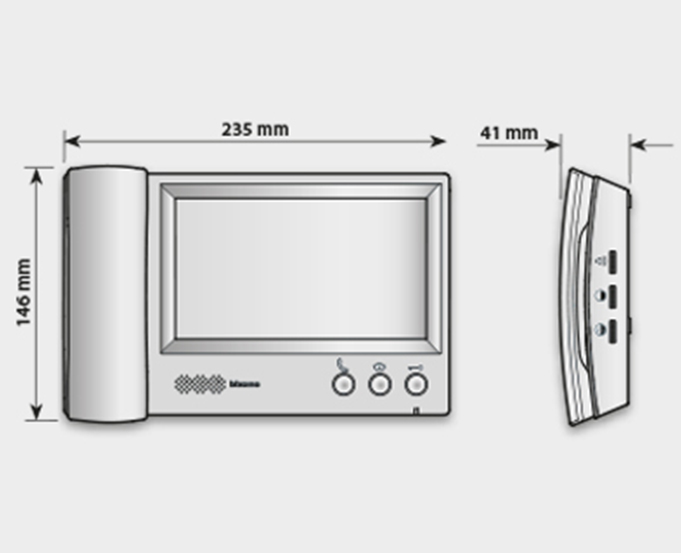 """7"""" and 4.3"""" Video handset internal units"""