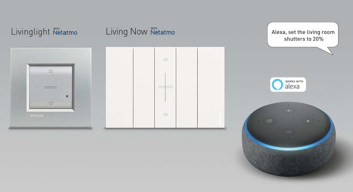 Control the shutters with your voice using Alexa