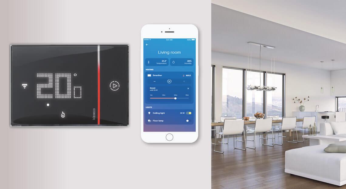 Smarther with Netatmo: essential design, maximum comfort, wherever you are