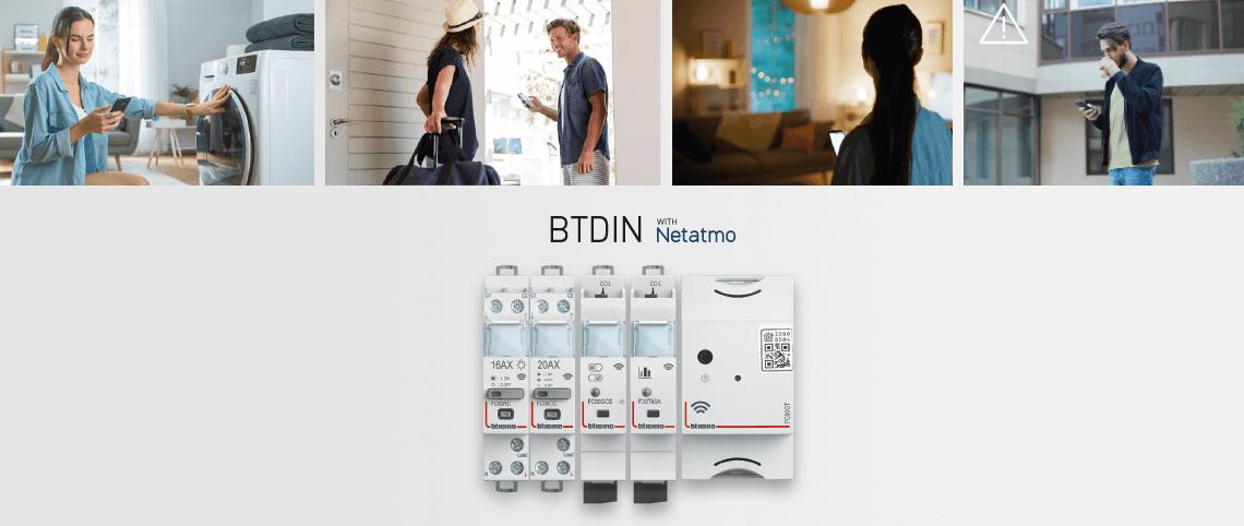 Smart BTDIN with Netatmo electrical panel